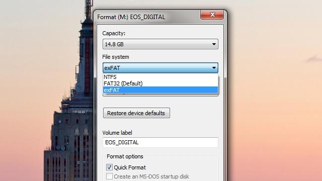 exFAT Versus FAT32 Versus NTFS