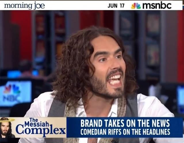 "Russell Brand Lectures MSNBC on ""Superficial"" Media Agenda"