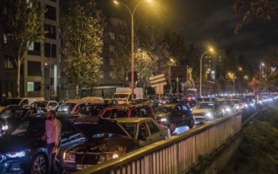Paris gridlocked after mass exodus ahead of new national lockdown